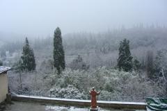 Монастырь Сарджьяно: Большая Терраса под снегом
